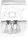 Sedie e struttura Fotografie Stock Libere da Diritti