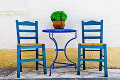 Sedie e tavola Fotografia Stock