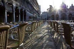 Sedie en la plaza San Marco Foto de archivo