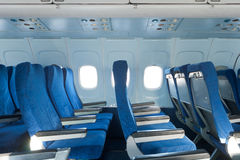 Sedie nell'aereo Fotografia Stock Libera da Diritti