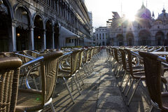 Sedie in Piazza San Marco Stock Photo