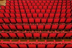 Sedie rosse vuote Fotografia Stock