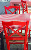 Sedie rosse vuote Fotografia Stock Libera da Diritti
