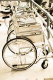 Sedie a rotelle per il paziente Fotografie Stock