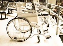Sedie a rotelle per il paziente Fotografie Stock Libere da Diritti