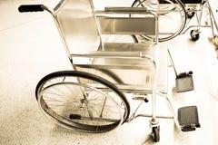 Sedie a rotelle per il paziente Fotografia Stock