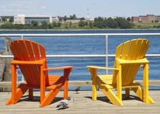 Sedie variopinte di Halifax Fotografia Stock Libera da Diritti