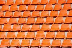 Sedile arancio Immagine Stock