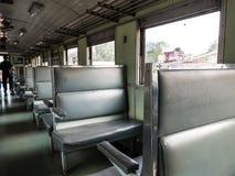 Sedile del treno nel treno fotografia stock libera da diritti
