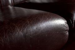 Sedile di cuoio del sofà Immagini Stock