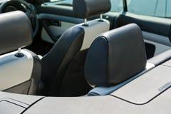 Sedile di cuoio dell'automobile Fotografia Stock Libera da Diritti
