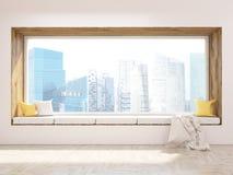 Sedile di finestra e luce solare Immagini Stock