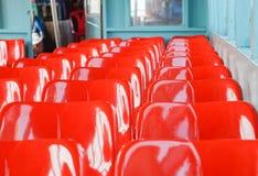 Sedile di plastica rosso immagini stock