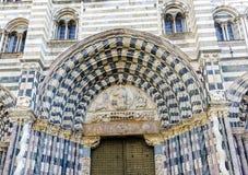 Sedile di San Lorenzo dei Di di Cattedrale dell'arcivescovo di Genova Fotografia Stock Libera da Diritti