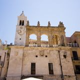 Sedile Palace in Mercantile Square of Bari Old Town, Italy stock photo