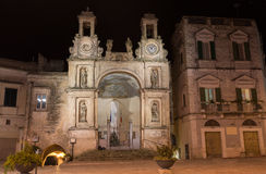 Sedile Palace by night - Matera - Italy Royalty Free Stock Images