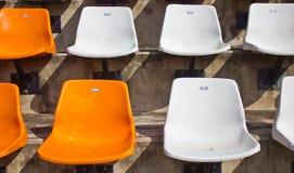 Sedile vuoto dello stadio. Fotografie Stock Libere da Diritti