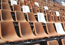 Sedili d'annata dello stadio Fotografia Stock