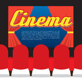 Sedili del cinema in Front Of Screen Cinema Seats in Front Of Screen Immagini Stock Libere da Diritti
