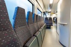 sedili del treno Immagine Stock Libera da Diritti