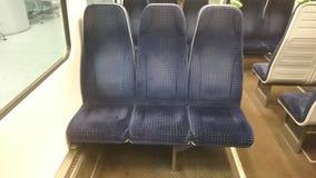 sedili del treno Immagini Stock Libere da Diritti