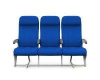 Sedili dell'aeroplano isolati Fotografia Stock Libera da Diritti