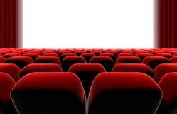 Sedili dello schermo del teatro o del cinema Fotografie Stock Libere da Diritti