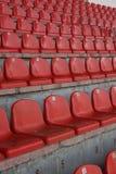 Sedili dello stadio Fotografia Stock Libera da Diritti