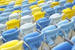Sedili dello stadio di football americano di Maracana Fotografie Stock