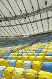 Sedili dello stadio di football americano di Maracana Immagine Stock