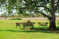 Sedili di giardino Immagini Stock Libere da Diritti