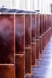 Sedili di legno in Nave Immagine Stock Libera da Diritti