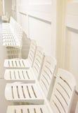 Sedili di plastica bianchi Immagine Stock Libera da Diritti