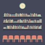 Sedili e scaffali per libri piani della lettura di progettazione royalty illustrazione gratis