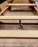 Sedili in nuova barca di legno Fotografia Stock Libera da Diritti