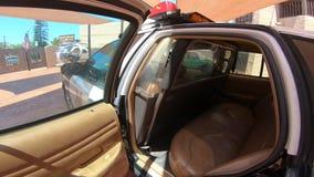 Sedili posteriori dell'automobile di Ford Police video d archivio