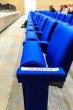 Sedili riservati Fotografia Stock Libera da Diritti