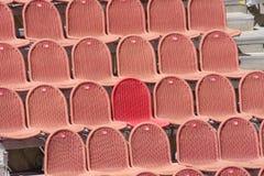 Sedili rossi Immagine Stock Libera da Diritti