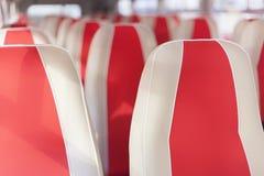 Sedili rossi del bus Fotografia Stock