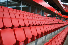 Sedili sullo stadio degli emirati Immagini Stock