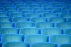 Sedili verdi comodi vuoti nel teatro, cinema Fotografie Stock Libere da Diritti
