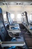 Sedili vuoti dell'aeroplano immagine stock