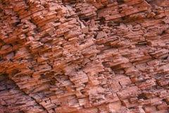 Sedimentär kanjonvägg royaltyfria bilder
