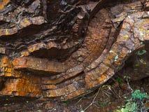 Sedimentär sten Arkivfoto