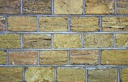 Sedimentär stenvägg, staket, yttersida, textur Brett använt i kust- ställen för byggandevägg av huset eller staketet, Ukraina Arkivfoton