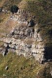 Sedimentära stenar stratigraphy Arkivbild
