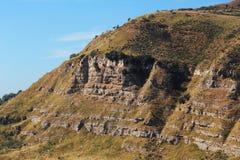 Sedimentära stenar stratigraphy Arkivfoto