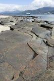 Sedimentärer Felsen Stockfoto
