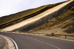 Sediment layers. Near de road at Teide National Park, Tenerife Stock Photography