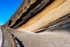 Sediment layers in El Teide National Park Tenerife Royalty Free Stock Image
